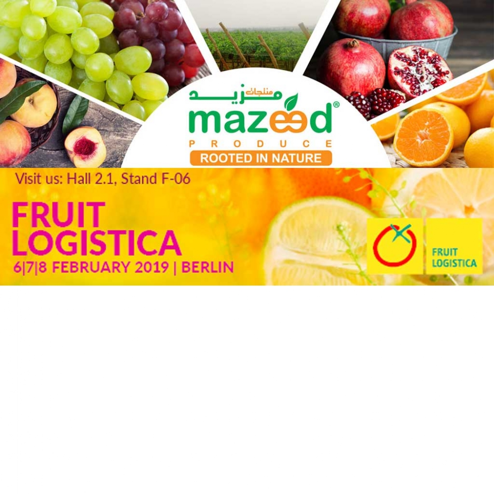 Mazeed produce is pleased to welcome you at Fruit Logistica